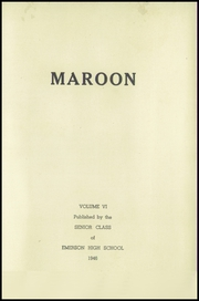 Page 5, 1946 Edition, Emerson High School - Maroon Yearbook (Emerson, IA) online yearbook collection