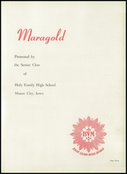 Page 7, 1951 Edition, Holy Family High School - Maragold Yearbook (Mason City, IA) online yearbook collection