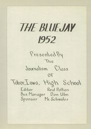 Page 7, 1952 Edition, Tabor High School - Echoes Yearbook (Tabor, IA) online yearbook collection