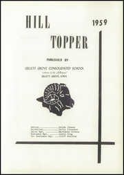 Page 5, 1959 Edition, Gillett Grove High School - Hilltopper Yearbook (Gillett Grove, IA) online yearbook collection