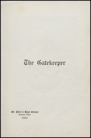 Page 5, 1924 Edition, St Peters High School - Gatekeeper Yearbook (Keokuk, IA) online yearbook collection