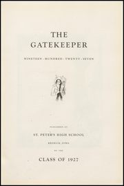Page 7, 1927 Edition, St Peters High School - Gatekeeper Yearbook (Keokuk, IA) online yearbook collection