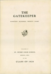 Page 7, 1928 Edition, St Peters High School - Gatekeeper Yearbook (Keokuk, IA) online yearbook collection