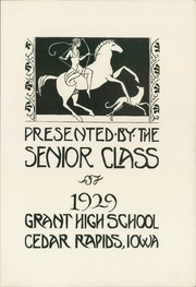 Page 7, 1929 Edition, Grant High School - Green and Gold Yearbook (Cedar Rapids, IA) online yearbook collection
