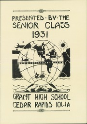 Page 9, 1931 Edition, Grant High School - Green and Gold Yearbook (Cedar Rapids, IA) online yearbook collection