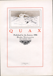 Page 5, 1906 Edition, Drake University - Quax Yearbook (Des Moines, IA) online yearbook collection