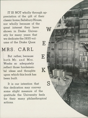 Page 15, 1935 Edition, Drake University - Quax Yearbook (Des Moines, IA) online yearbook collection