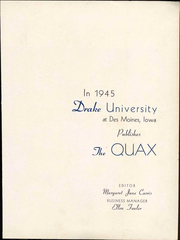 Page 9, 1945 Edition, Drake University - Quax Yearbook (Des Moines, IA) online yearbook collection
