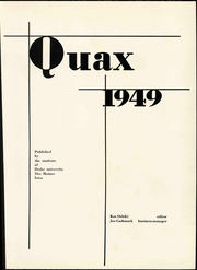 Page 7, 1949 Edition, Drake University - Quax Yearbook (Des Moines, IA) online yearbook collection