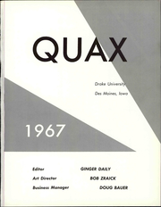 Page 7, 1967 Edition, Drake University - Quax Yearbook (Des Moines, IA) online yearbook collection