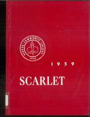 1959 Edition, Keokuk Community College - Scarlet Yearbook (Keokuk, IA)