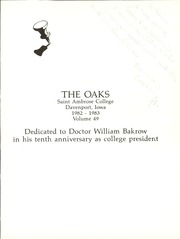 Page 5, 1983 Edition, Saint Ambrose College - Oaks Yearbook (Davenport, IA) online yearbook collection