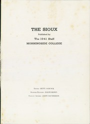 Page 5, 1941 Edition, Morningside College - Sioux Yearbook (Sioux City, IA) online yearbook collection