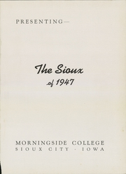 Page 5, 1947 Edition, Morningside College - Sioux Yearbook (Sioux City, IA) online yearbook collection