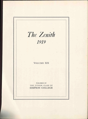 Page 9, 1919 Edition, Simpson College - Zenith Yearbook (Indianola, IA) online yearbook collection