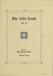 Page 4, 1924 Edition, Simpson College - Zenith Yearbook (Indianola, IA) online yearbook collection