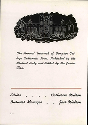 Page 6, 1942 Edition, Simpson College - Zenith Yearbook (Indianola, IA) online yearbook collection