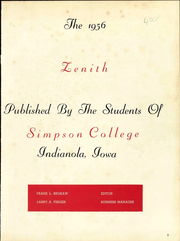 Page 7, 1956 Edition, Simpson College - Zenith Yearbook (Indianola, IA) online yearbook collection