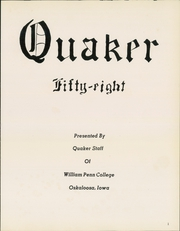 Page 5, 1958 Edition, William Penn University - Quaker Yearbook (Oskaloosa, IA) online yearbook collection