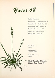 Page 5, 1968 Edition, University of North Texas - Yucca Yearbook (Denton, TX) online yearbook collection