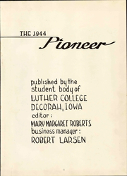 Page 7, 1944 Edition, Luther College - Pioneer Yearbook (Decorah, IA) online yearbook collection