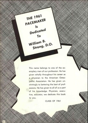 Page 10, 1961 Edition, Des Moines University - Pacemaker Yearbook (Des Moines, IA) online yearbook collection