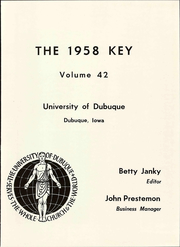 Page 5, 1958 Edition, University of Dubuque - Key Yearbook (Dubuque, IA) online yearbook collection