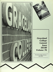 Page 6, 1988 Edition, Graceland University - Acacia Yearbook (Lamoni, IA) online yearbook collection