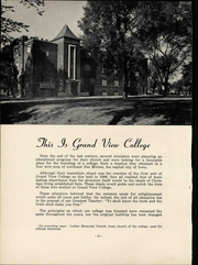 Page 14, 1952 Edition, Grand View University - Viking Yearbook (Des Moines, IA) online yearbook collection