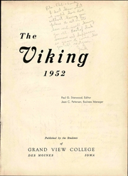 Page 9, 1952 Edition, Grand View University - Viking Yearbook (Des Moines, IA) online yearbook collection