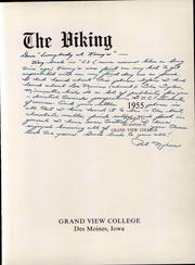 Page 9, 1955 Edition, Grand View University - Viking Yearbook (Des Moines, IA) online yearbook collection