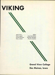 Page 7, 1958 Edition, Grand View University - Viking Yearbook (Des Moines, IA) online yearbook collection