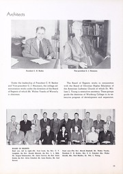 Page 12, 1950 Edition, Wartburg College - Fortress Yearbook (Waverly, IA) online yearbook collection