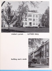 Page 13, 1956 Edition, Wartburg College - Fortress Yearbook (Waverly, IA) online yearbook collection