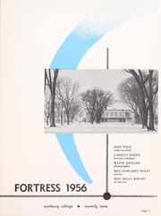 Page 5, 1956 Edition, Wartburg College - Fortress Yearbook (Waverly, IA) online yearbook collection