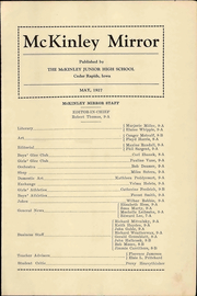 Page 3, 1927 Edition, McKinley Middle School - Mirror Yearbook (Cedar Rapids, IA) online yearbook collection