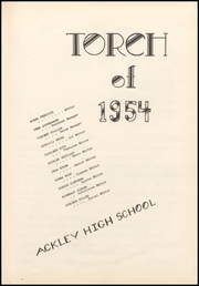 Page 5, 1954 Edition, Ackley High School - Torch Yearbook (Ackley, IA) online yearbook collection