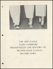 Page 3, 1957 Edition, Archer High School - Eagle Yearbook (Archer, IA) online yearbook collection