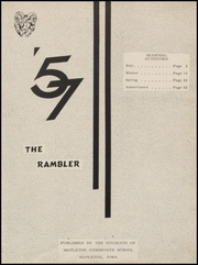 Page 5, 1957 Edition, Mapleton High School - Rambler Yearbook (Mapleton, IA) online yearbook collection