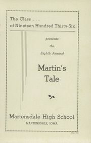 Page 3, 1936 Edition, Martensdale High School - Martins Tale Yearbook (Martensdale, IA) online yearbook collection
