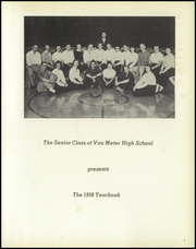 Page 5, 1958 Edition, Van Meter High School - Memories Yearbook (Van Meter, IA) online yearbook collection