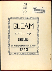 Page 13, 1909 Edition, William Chrisman High School - Gleam Yearbook (Independence, MO) online yearbook collection