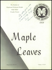 Page 5, 1958 Edition, Maplewood Richmond Heights High School - Maple Leaves Yearbook (Maplewood, MO) online yearbook collection