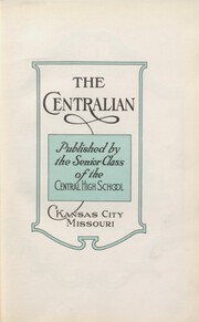 Page 13, 1923 Edition, Central High School - Centralian Yearbook (Kansas City, MO) online yearbook collection