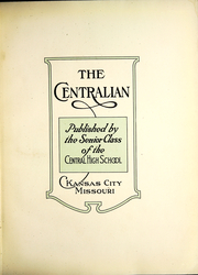 Page 7, 1924 Edition, Central High School - Centralian Yearbook (Kansas City, MO) online yearbook collection