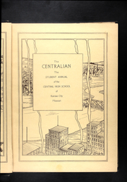 Page 7, 1926 Edition, Central High School - Centralian Yearbook (Kansas City, MO) online yearbook collection