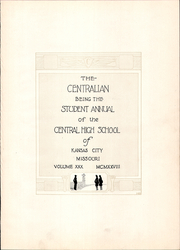 Page 7, 1928 Edition, Central High School - Centralian Yearbook (Kansas City, MO) online yearbook collection