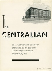 Page 5, 1935 Edition, Central High School - Centralian Yearbook (Kansas City, MO) online yearbook collection