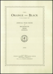 Page 5, 1935 Edition, Brunswick High School - Orange Black Yearbook (Brunswick, ME) online yearbook collection