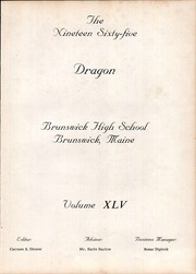 Page 5, 1965 Edition, Brunswick High School - Orange Black Yearbook (Brunswick, ME) online yearbook collection
